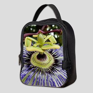 Passion Flower Neoprene Lunch Bag