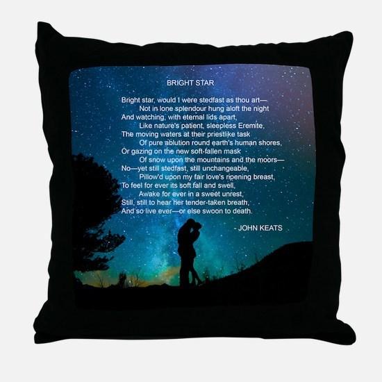 Cute John keats Throw Pillow