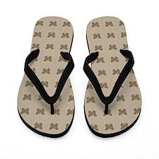Cute Chic Butterflies Pattern Flip Flops