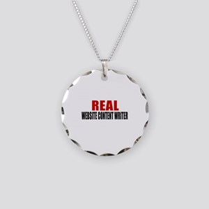 Real Website content writer Necklace Circle Charm