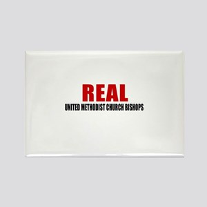 Real United Methodist Church Bish Rectangle Magnet