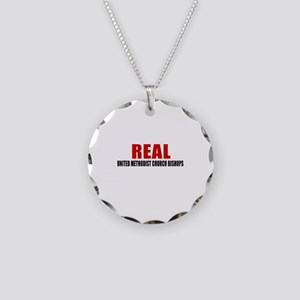 Real United Methodist Church Necklace Circle Charm