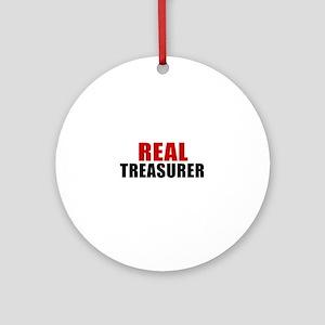 Real Treasurer Round Ornament