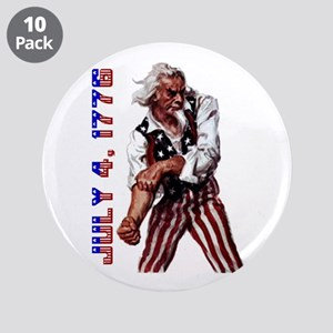 """Uncle Sam July 4 3.5"""" Button (10 pack)"""