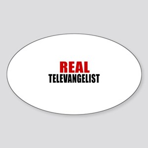 Real Television presenter Sticker (Oval)