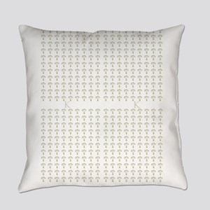 Chic Art Deco Style Tulips White Everyday Pillow