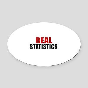 Real Statistics Oval Car Magnet
