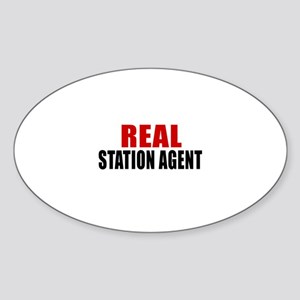 Real Station agent Sticker (Oval)