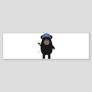 Police Black Bear and handcuffs Bumper Sticker