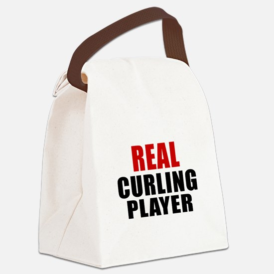 Real Curling Canvas Lunch Bag