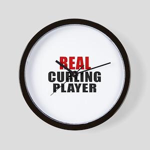 Real Curling Wall Clock