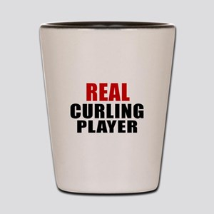 Real Curling Shot Glass