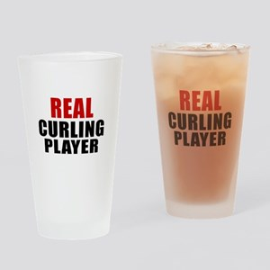 Real Curling Drinking Glass