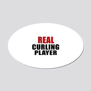 Real Curling 20x12 Oval Wall Decal