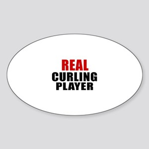 Real Curling Sticker (Oval)