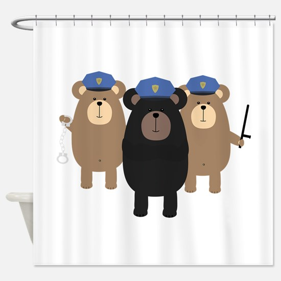 Police Officers bear squad Shower Curtain