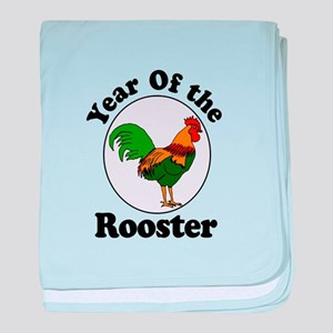 Year of the Rooster baby blanket
