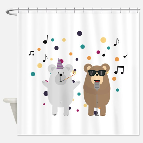 Party Bears singing Shower Curtain
