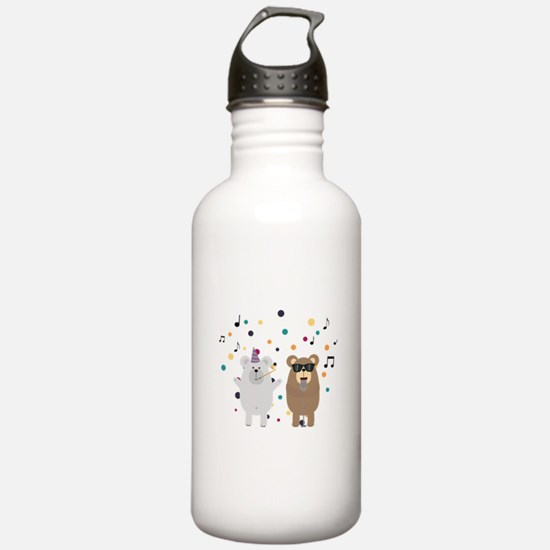 Party Bears singing Water Bottle