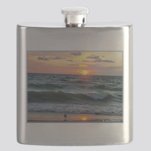 Sunset, seagull, photo! Flask