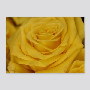 Yellow roses 5'x7'Area Rug