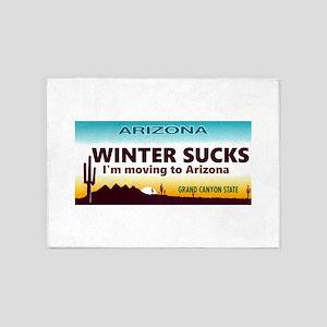 Arizona license Plate 5'x7'Area Rug