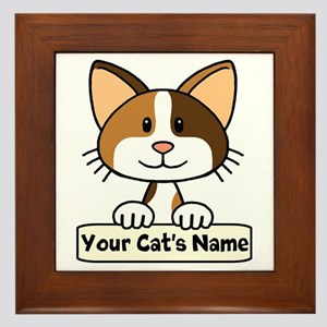 Personalized Calico Cat Framed Tile