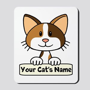 Personalized Calico Cat Mousepad