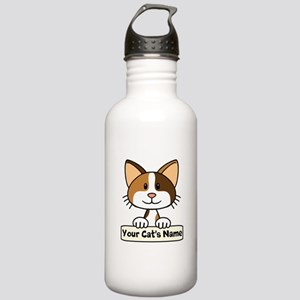 Personalized Calico Ca Stainless Water Bottle 1.0L