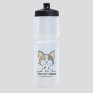 Personalized Calico Cat Sports Bottle