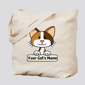 Personalized Calico Cat Tote Bag