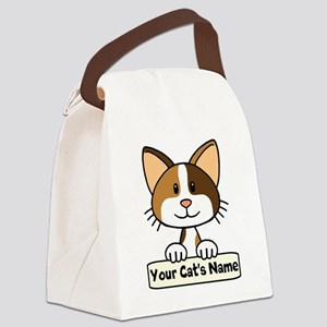 Personalized Calico Cat Canvas Lunch Bag