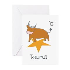 Taurus Kiddie Greeting Cards (Pk of 10)