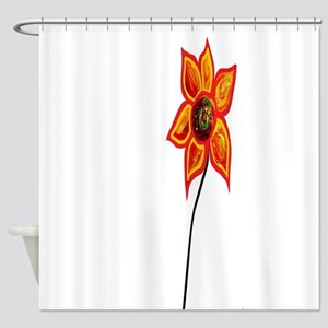 Just One Abstract Flower Shower Curtain