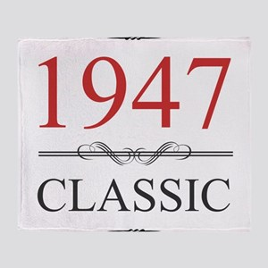 Classic 1947 Throw Blanket
