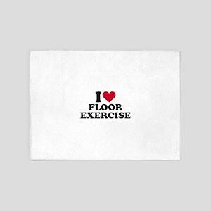 I love floor exercise 5'x7'Area Rug