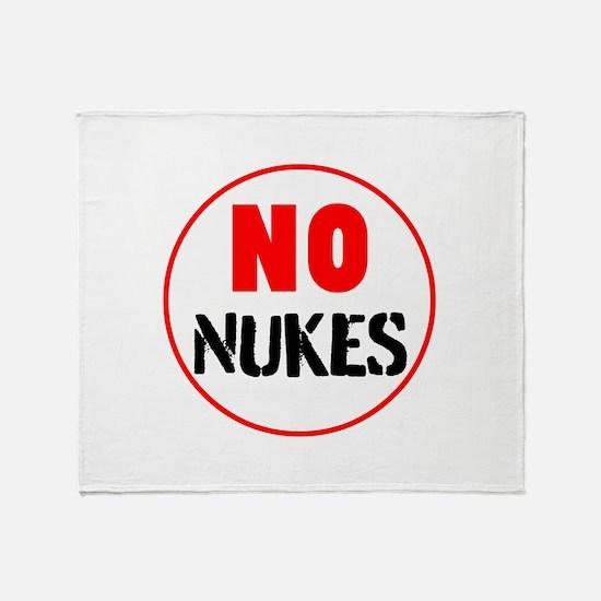 No Nukes Throw Blanket