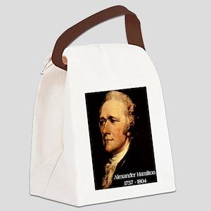Alexander Hamilton Canvas Lunch Bag