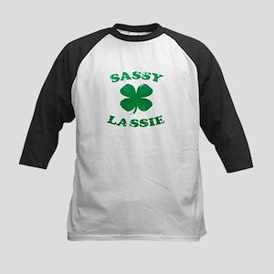 SASSY LASSIE ST. PATRICK'S DAY SHIRT Kids Baseball