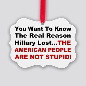 Hillary Lost Picture Ornament