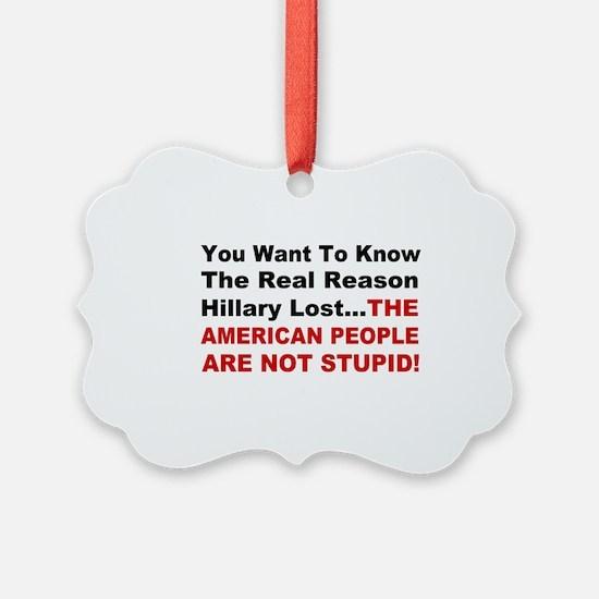 Hillary Lost Ornament