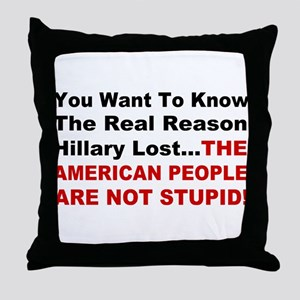 Hillary Lost Throw Pillow