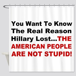 Hillary Lost Shower Curtain