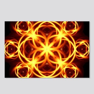 Fire Hearts Mandala Postcards (Package of 8)