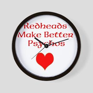 Redheads Make Better Psychos Wall Clock