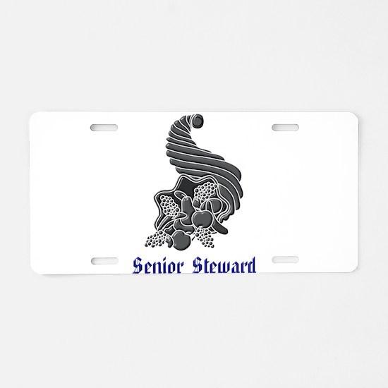Senior Steward Aluminum License Plate