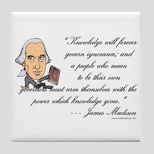Madison on Knowledge<br> Tile Coaster