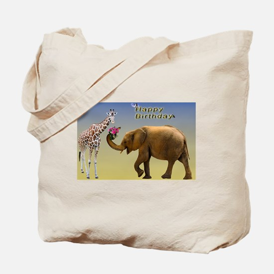 Unique Red and white elephant Tote Bag