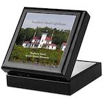 Raspberry Island Lighthouse Keepsake Box