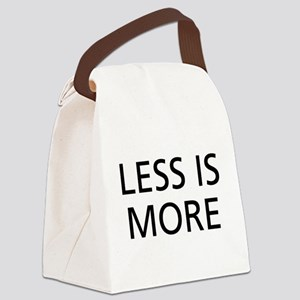 Less is More Canvas Lunch Bag